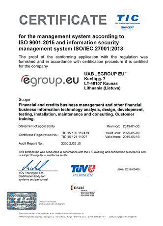 ISO 9001 and ISO/IEC 27001